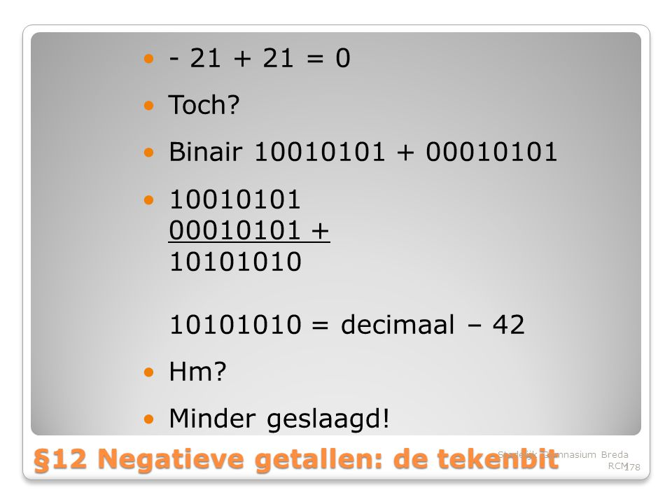§12 Negatieve getallen: de tekenbit