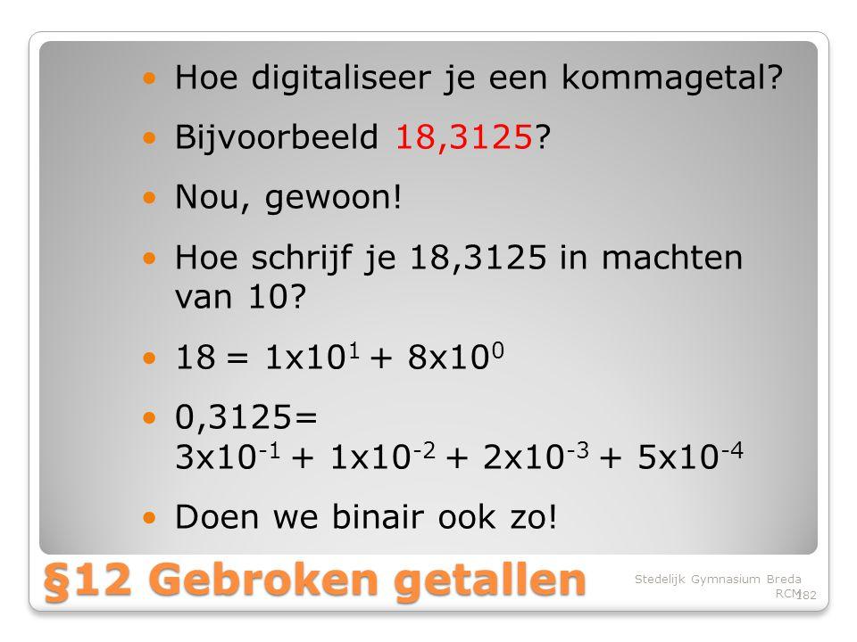 §12 Gebroken getallen Hoe digitaliseer je een kommagetal