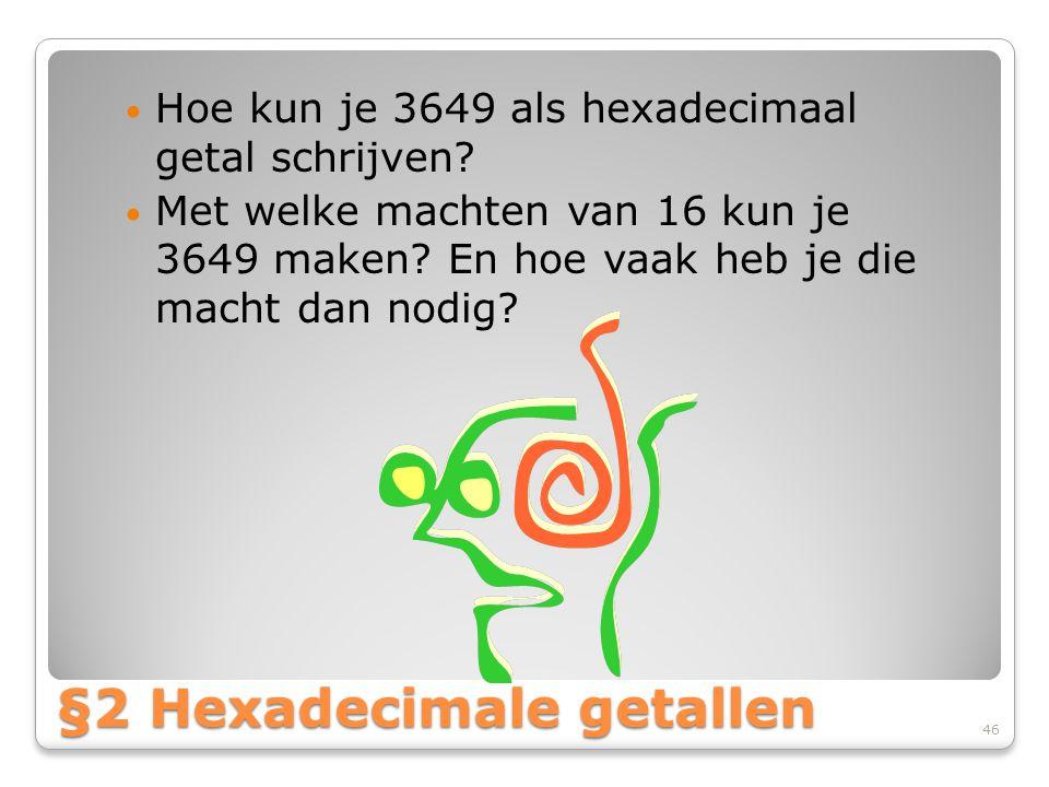 §2 Hexadecimale getallen
