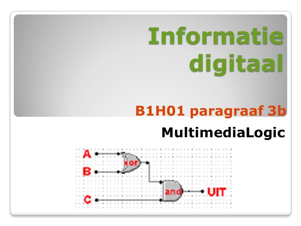 Informatie digitaal B1H01 paragraaf 3b MultimediaLogic