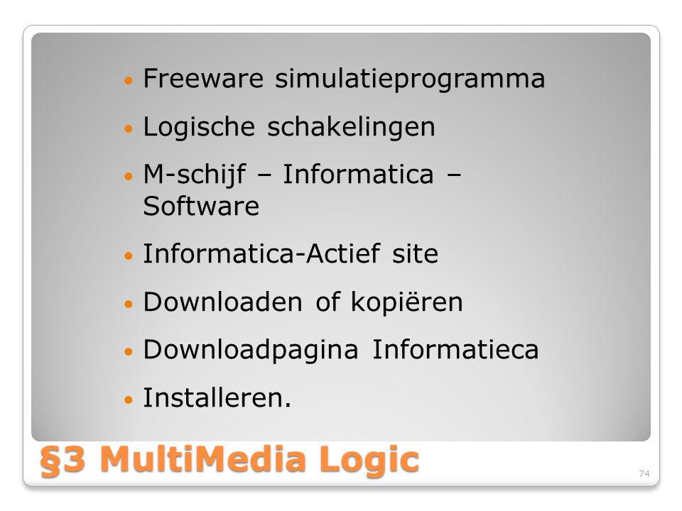 §3 MultiMedia Logic Freeware simulatieprogramma Logische schakelingen