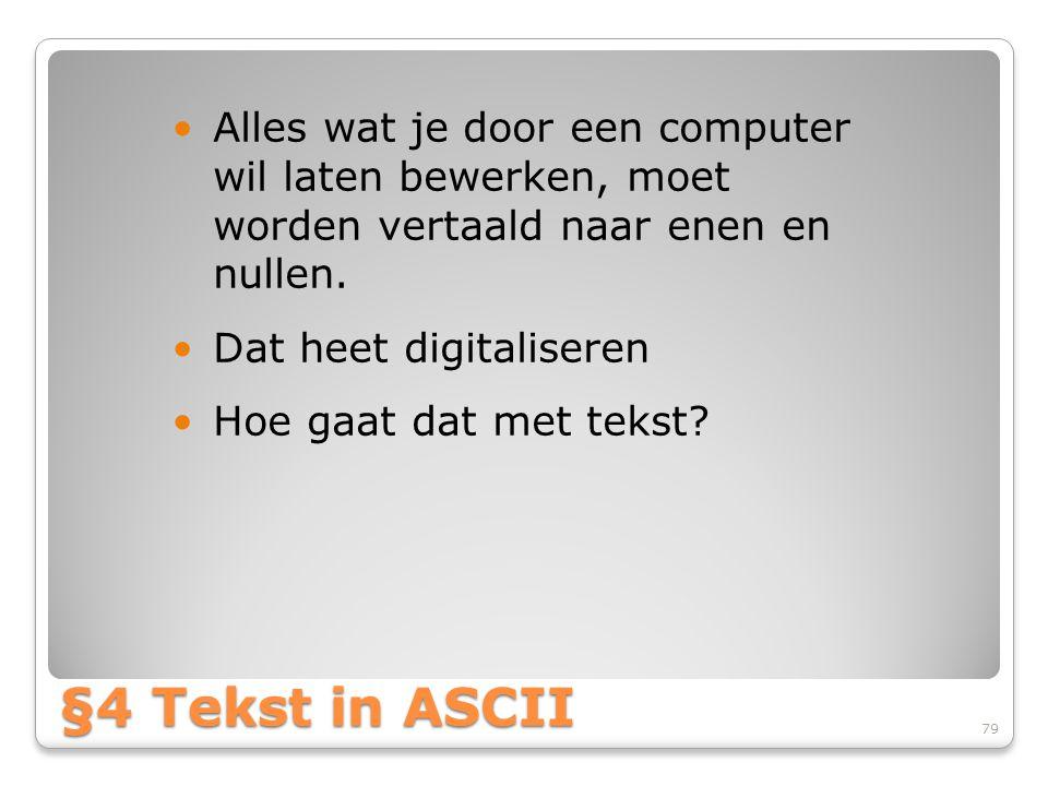 Alles wat je door een computer wil laten bewerken, moet worden vertaald naar enen en nullen.
