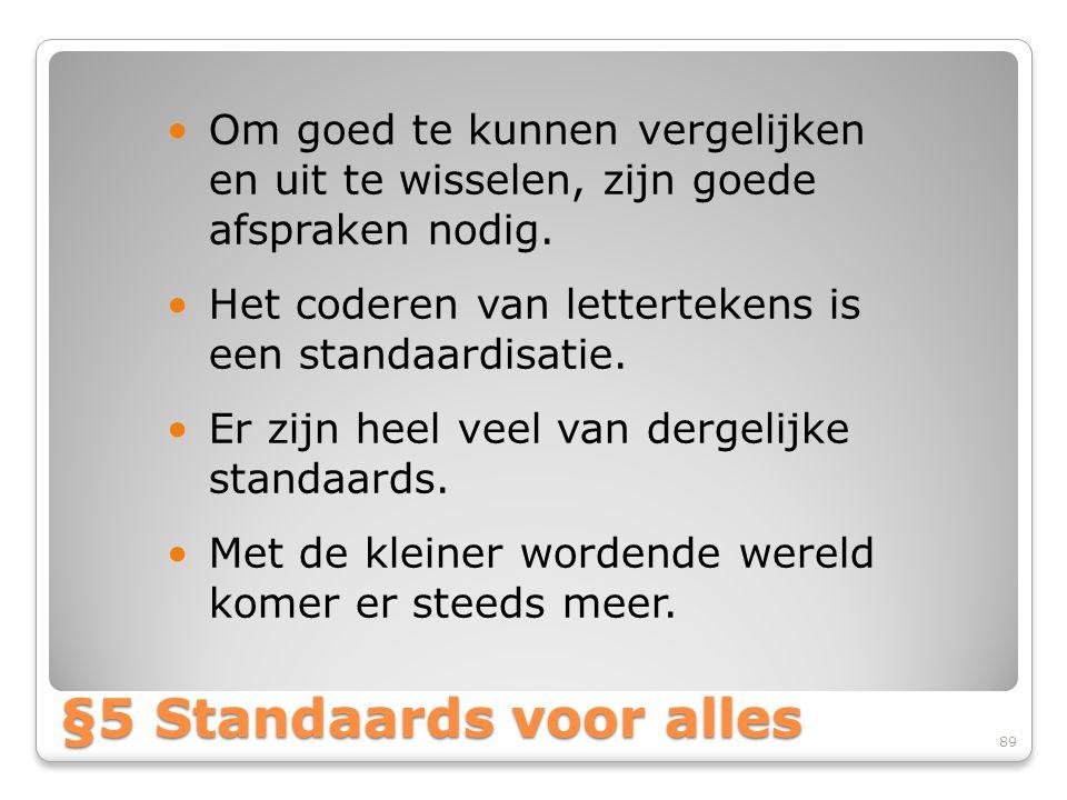 §5 Standaards voor alles