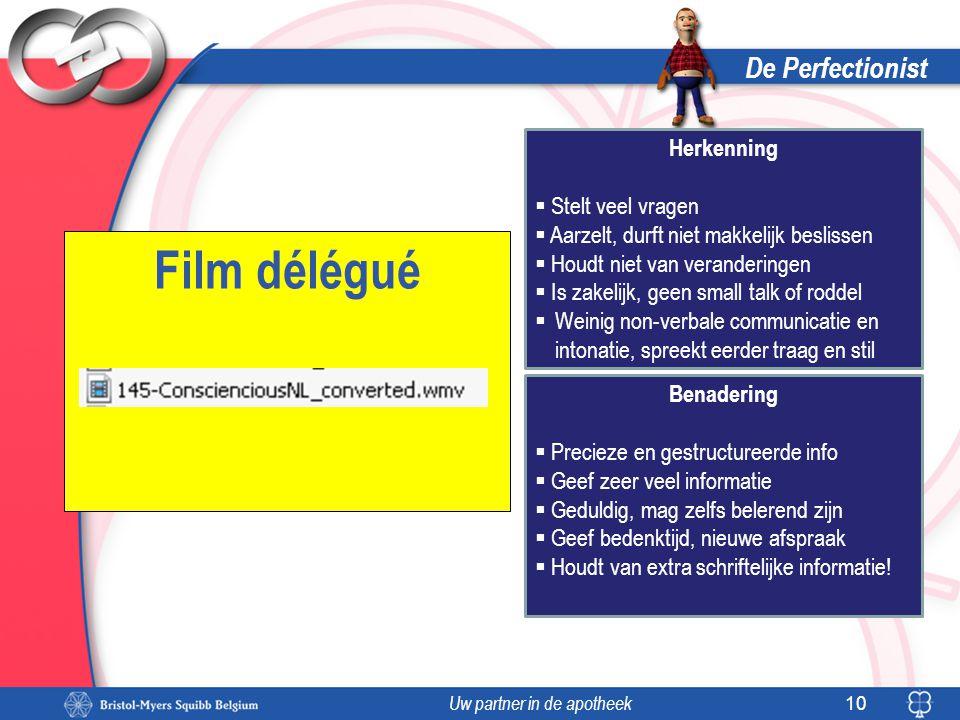 Film délégué De Perfectionist Herkenning Stelt veel vragen