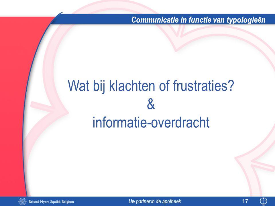 Communicatie in functie van typologieën