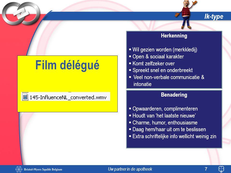 Film délégué Ik-type Herkenning Wil gezien worden (merkkledij)