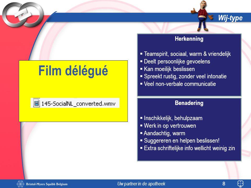 Film délégué Wij-type Herkenning