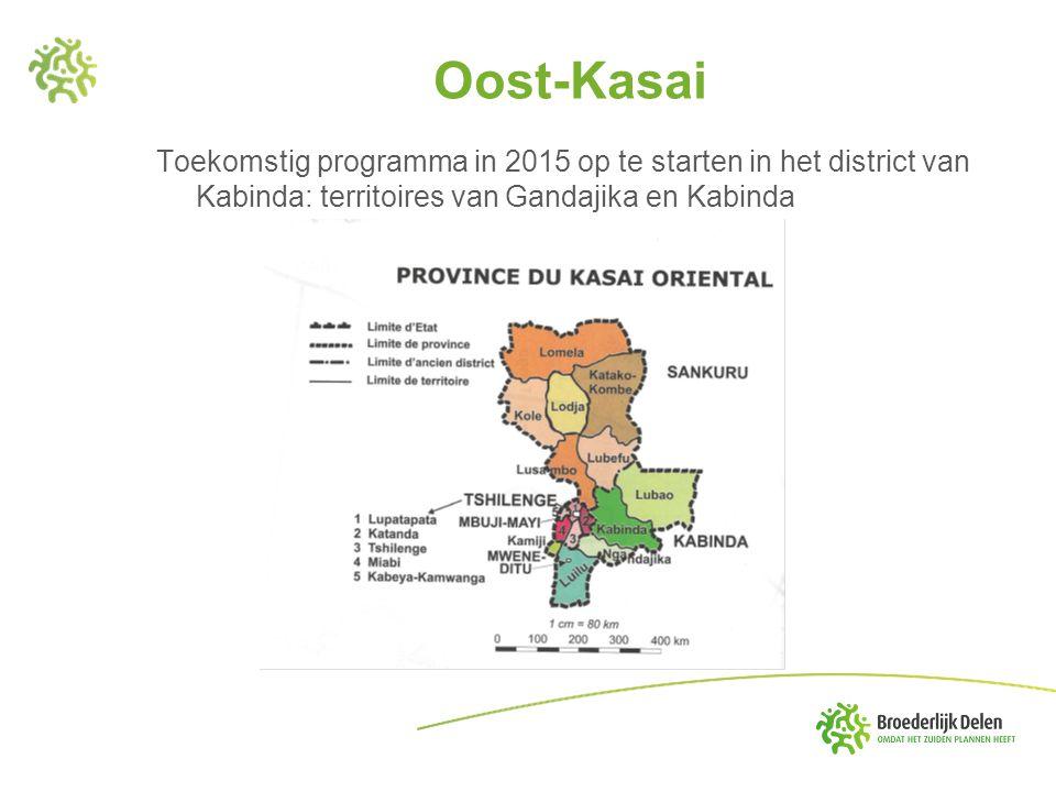 Oost-Kasai Toekomstig programma in 2015 op te starten in het district van Kabinda: territoires van Gandajika en Kabinda.