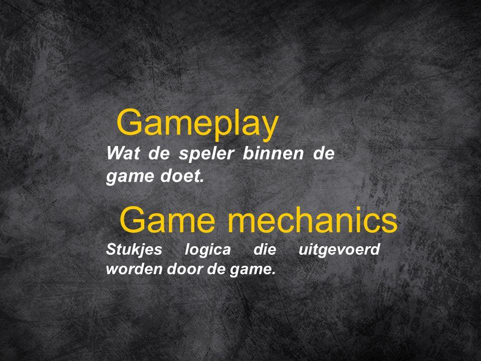 Wat de speler binnen de game doet.