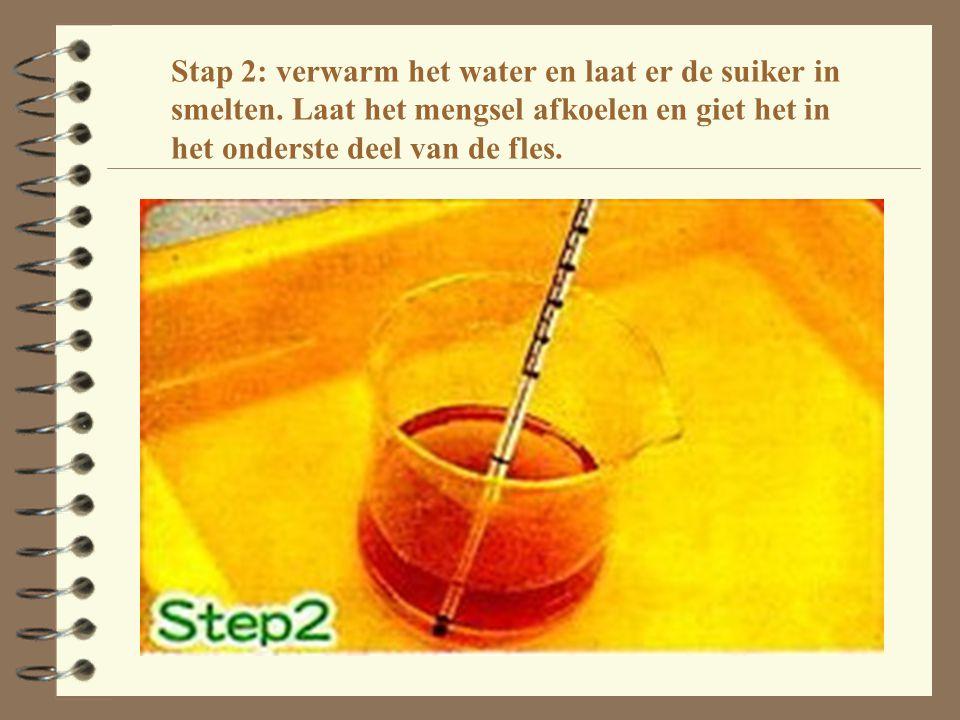 Stap 2: verwarm het water en laat er de suiker in smelten