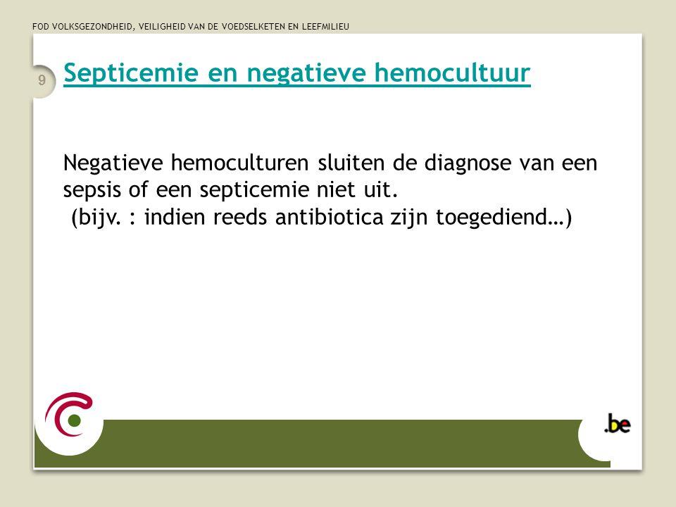 Septicemie en negatieve hemocultuur