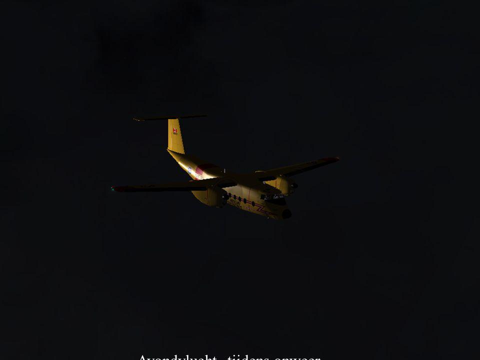 Avondvlucht tijdens onweer