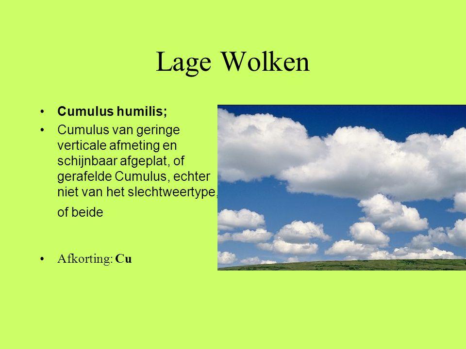 Lage Wolken Cumulus humilis;