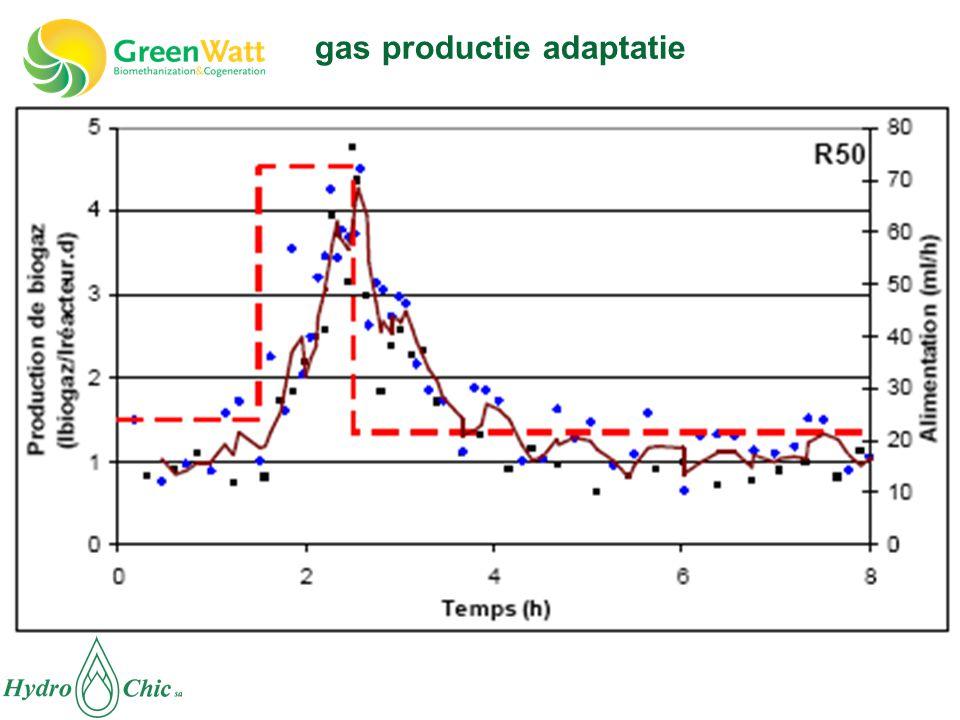 gas productie adaptatie