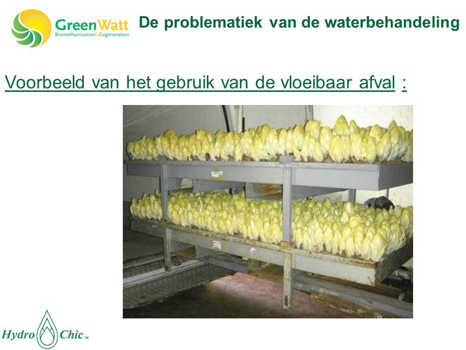 Voorbeeld van het gebruik van de vloeibaar afval :