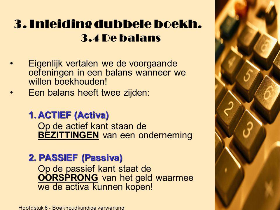 3. Inleiding dubbele boekh. 3.4 De balans