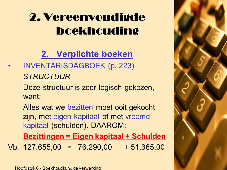 2. Vereenvoudigde boekhouding