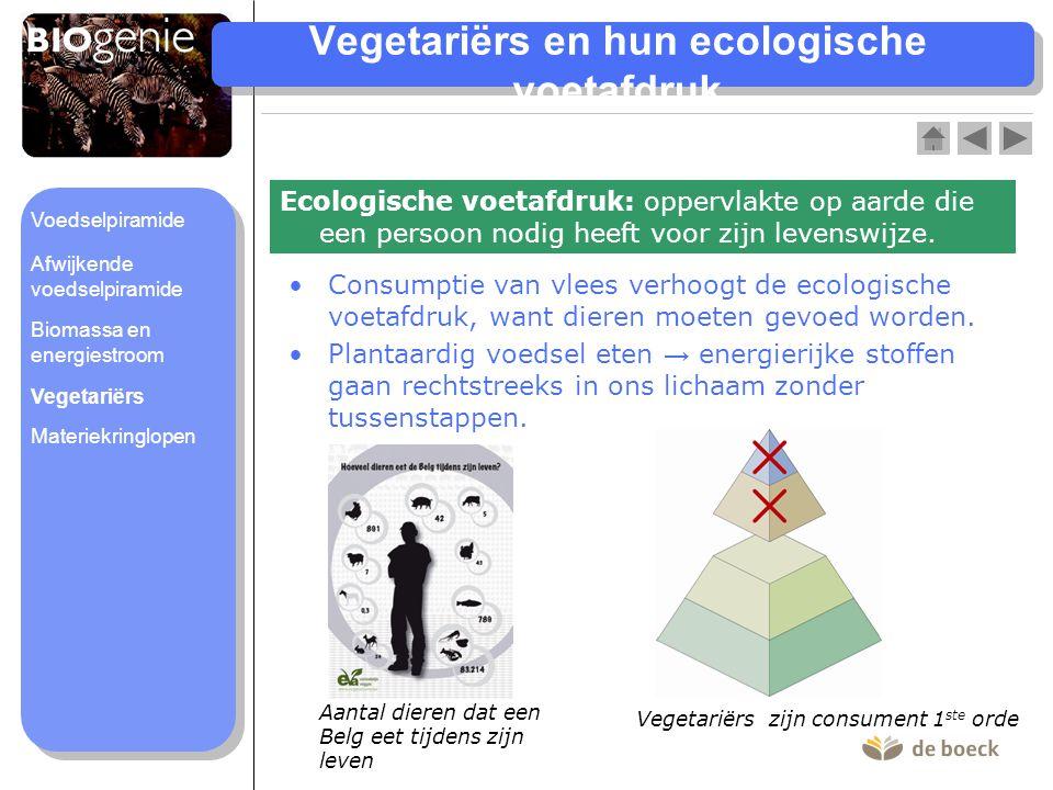Vegetariërs en hun ecologische voetafdruk