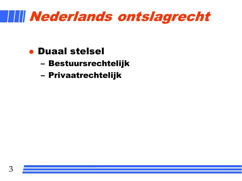 Nederlands ontslagrecht