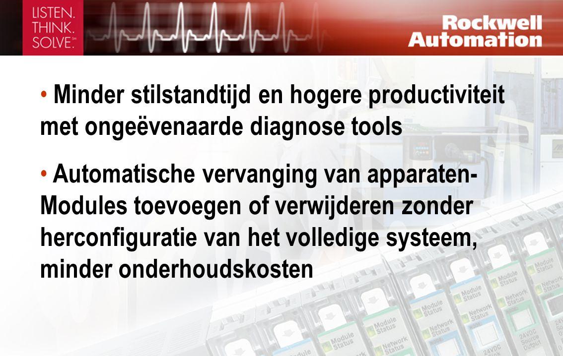 Minder stilstandtijd en hogere productiviteit met ongeëvenaarde diagnose tools