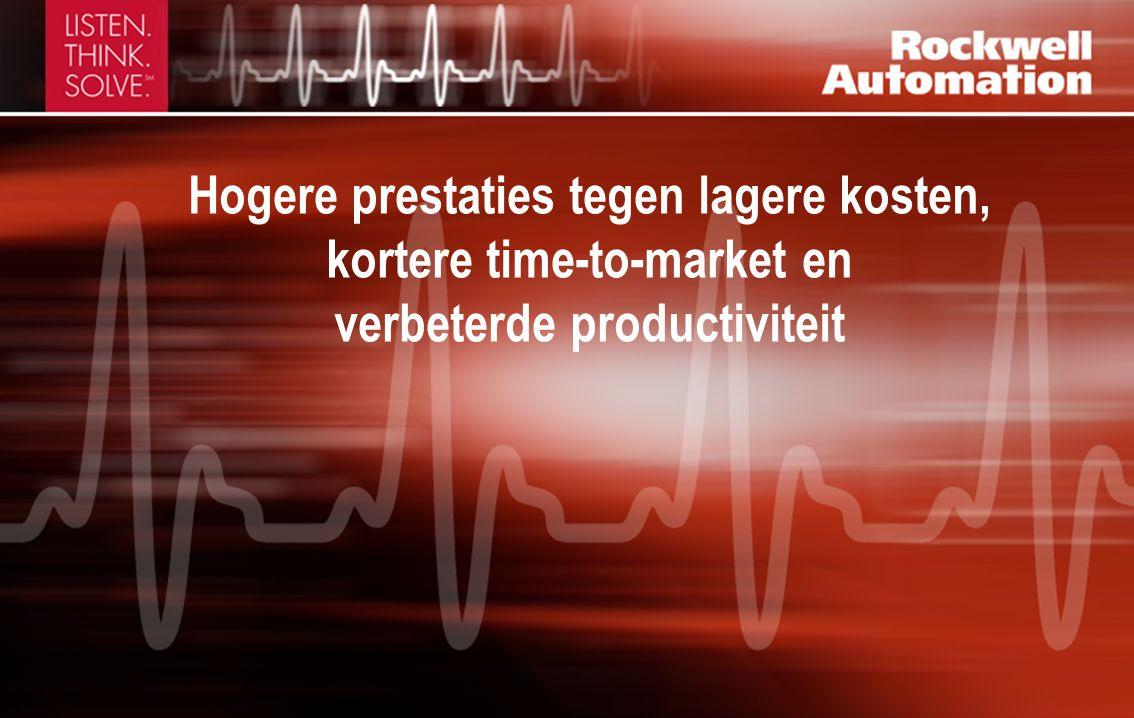 Hogere prestaties tegen lagere kosten, kortere time-to-market en verbeterde productiviteit