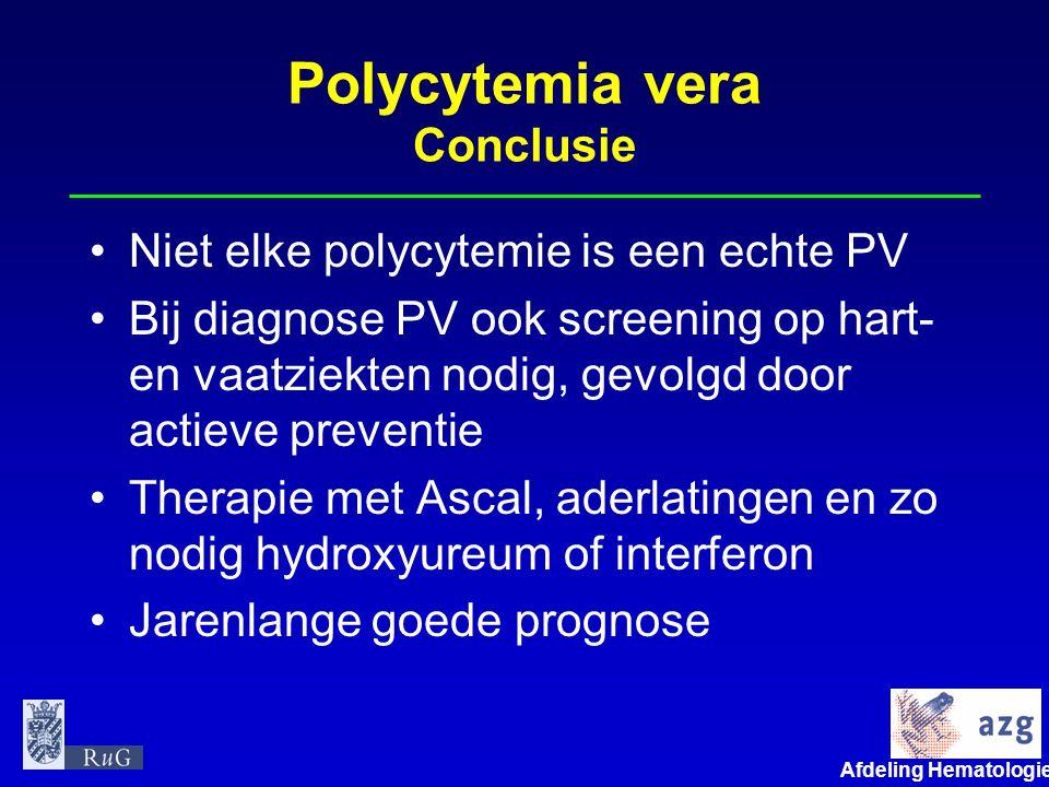 Polycytemia vera Conclusie