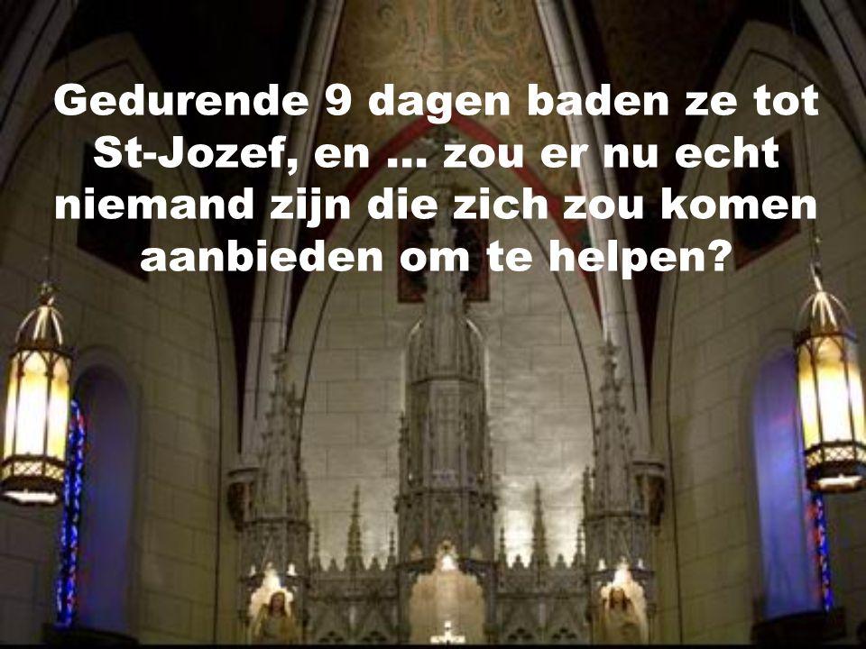 Gedurende 9 dagen baden ze tot St-Jozef, en