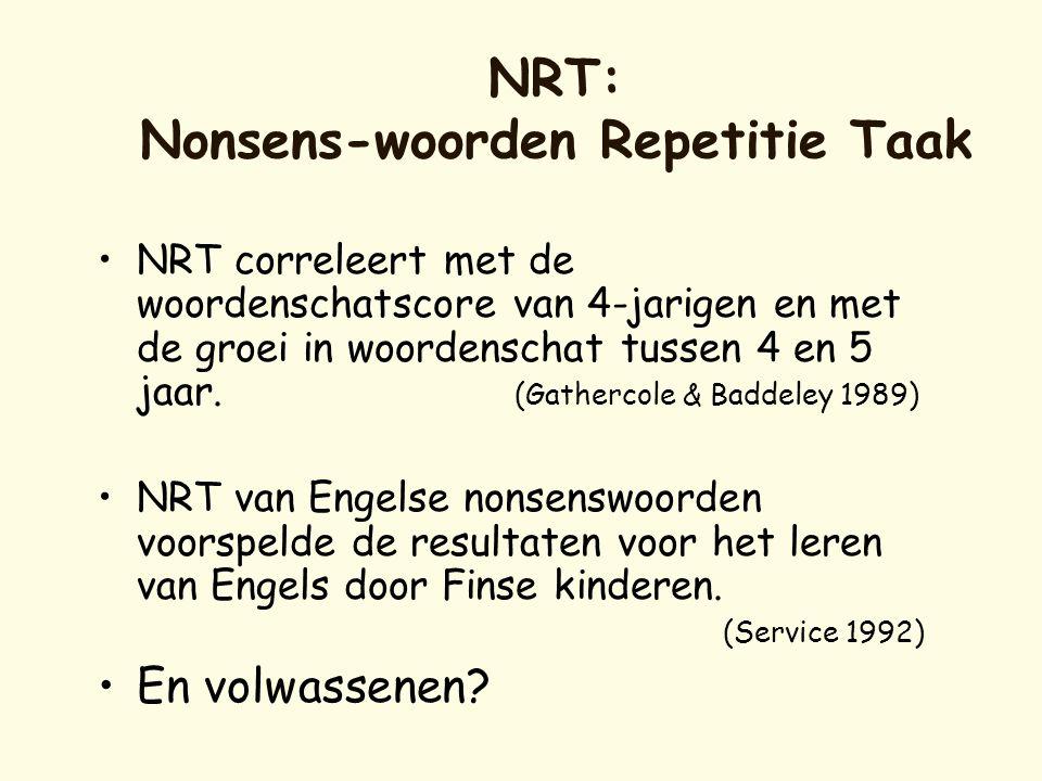 NRT: Nonsens-woorden Repetitie Taak
