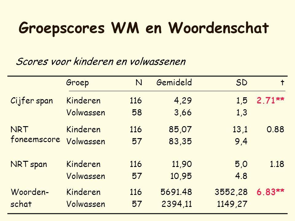 Groepscores WM en Woordenschat