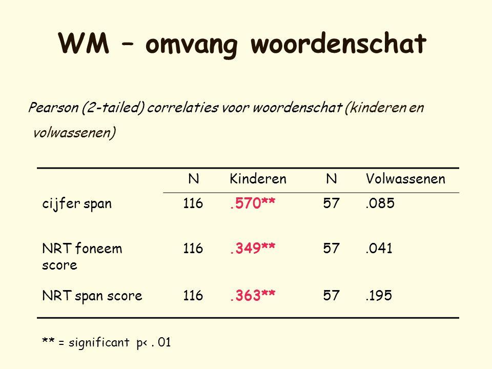 WM – omvang woordenschat