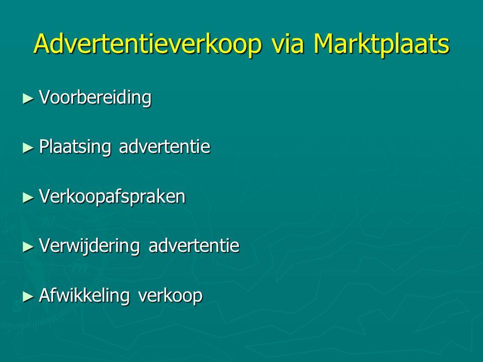 Advertentieverkoop via Marktplaats