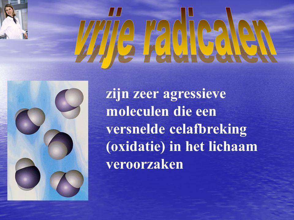 vrije radicalen zijn zeer agressieve.