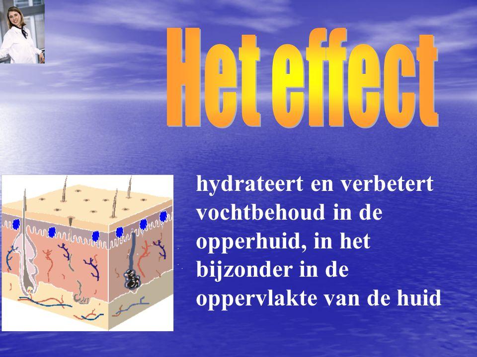 Het effect hydrateert en verbetert.