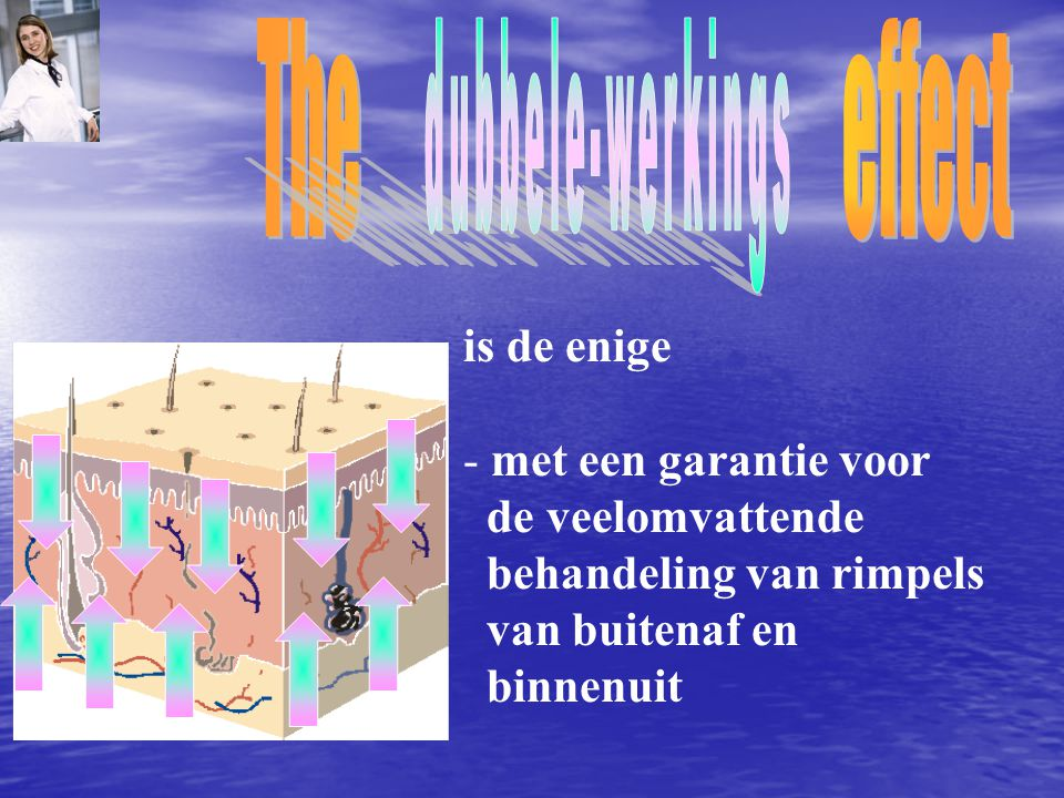 The effect dubbele-werkings is de enige