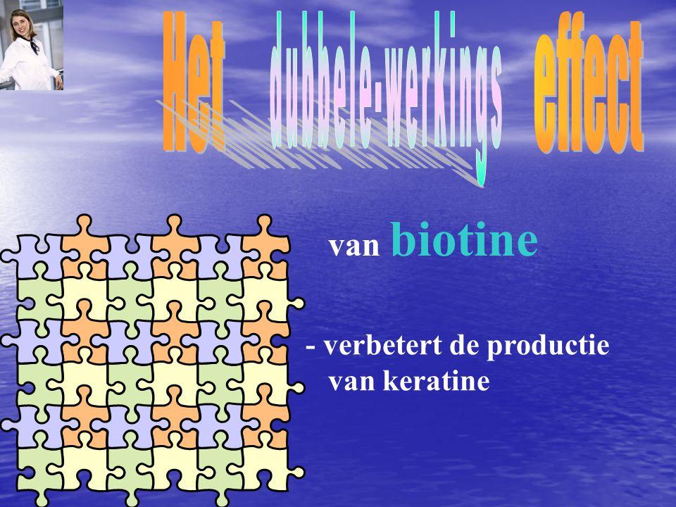 Het effect dubbele-werkings van biotine