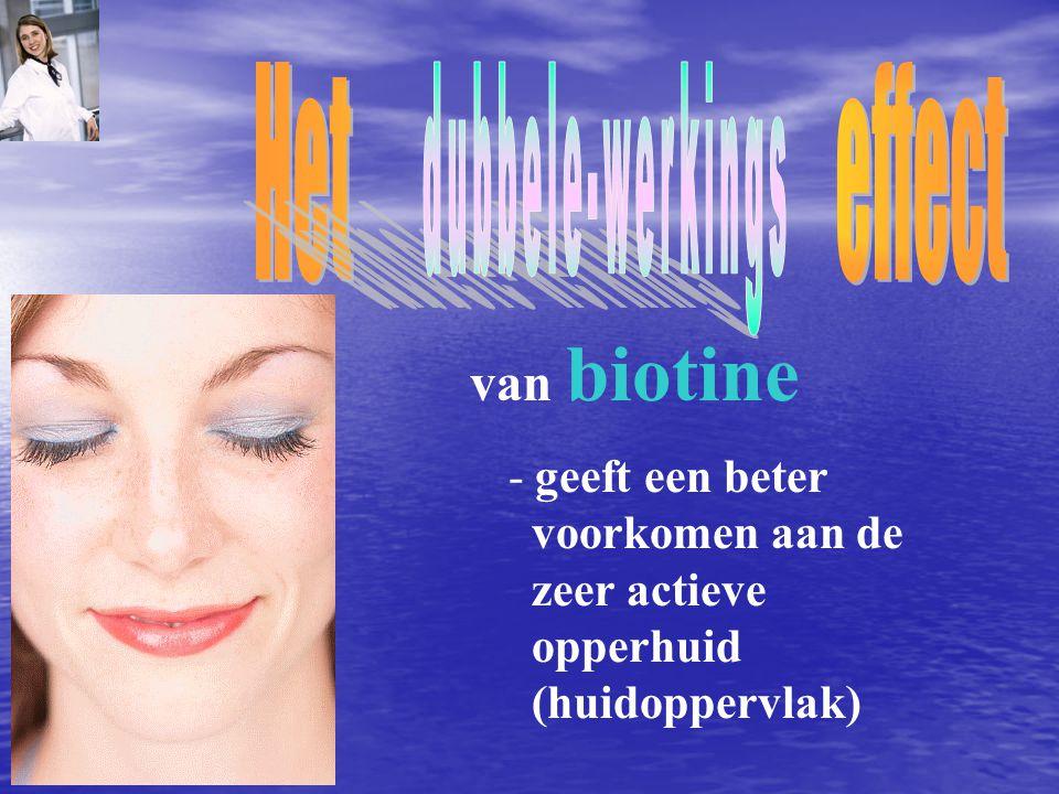 Het effect dubbele-werkings van biotine - geeft een beter