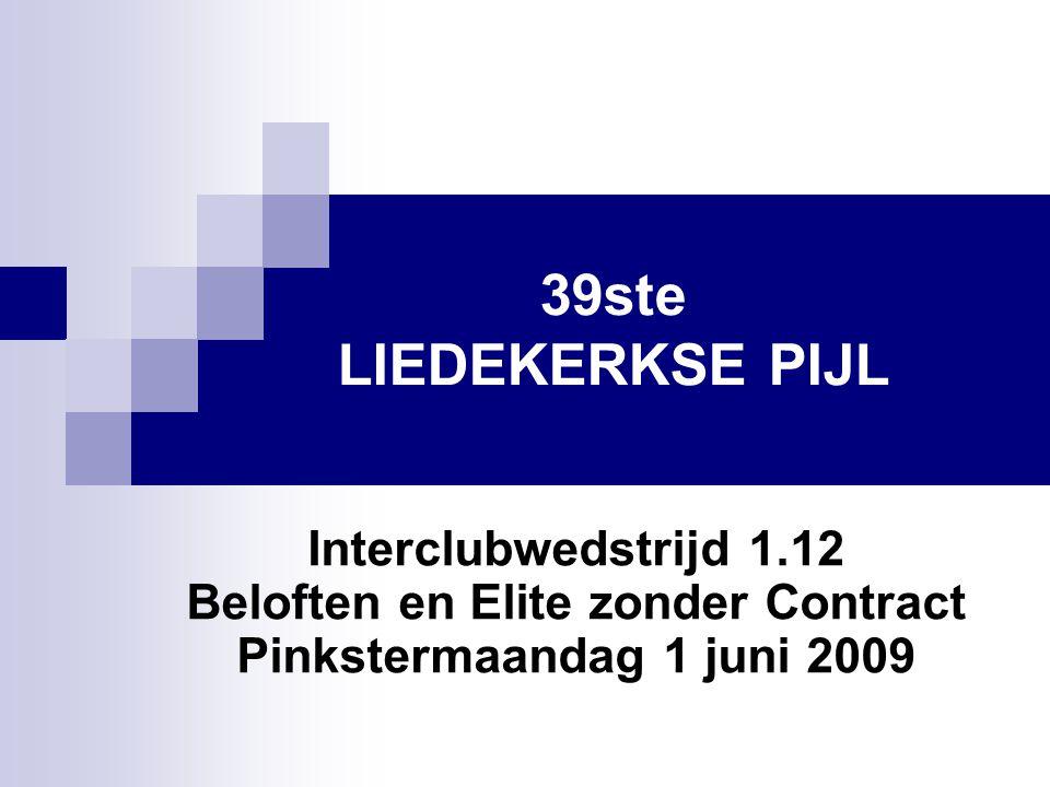 39ste LIEDEKERKSE PIJL Interclubwedstrijd 1.12 Beloften en Elite zonder Contract Pinkstermaandag 1 juni 2009.