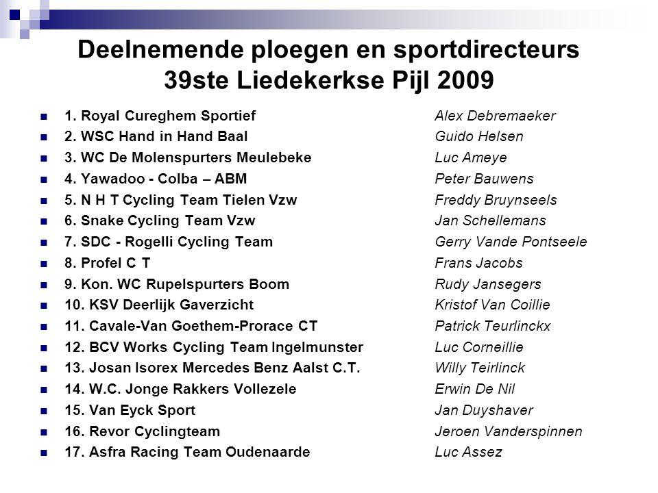 Deelnemende ploegen en sportdirecteurs 39ste Liedekerkse Pijl 2009