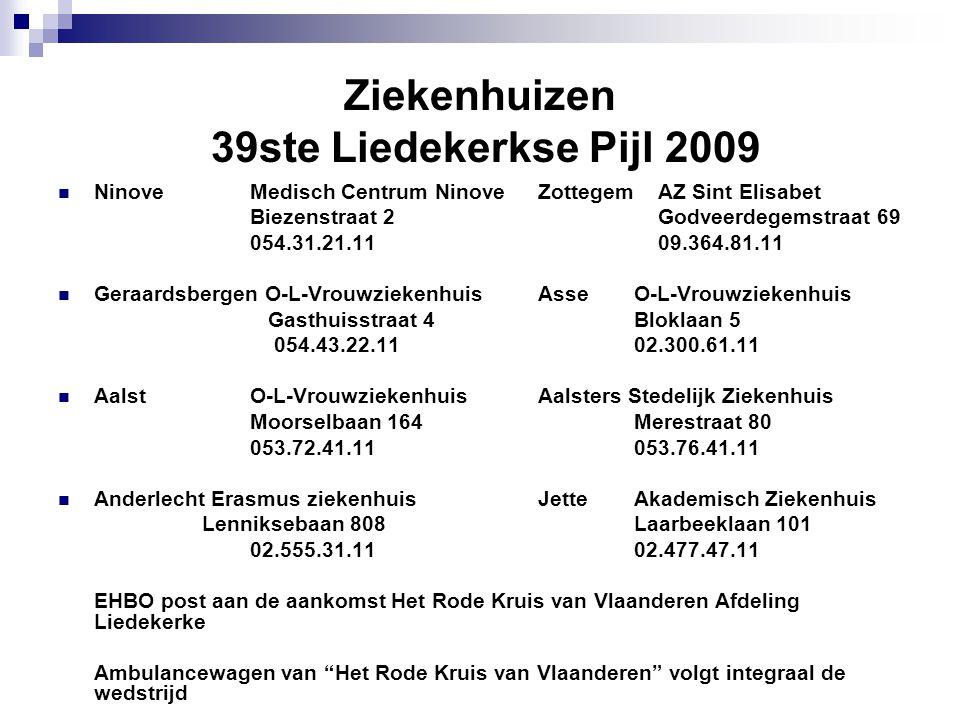 Ziekenhuizen 39ste Liedekerkse Pijl 2009