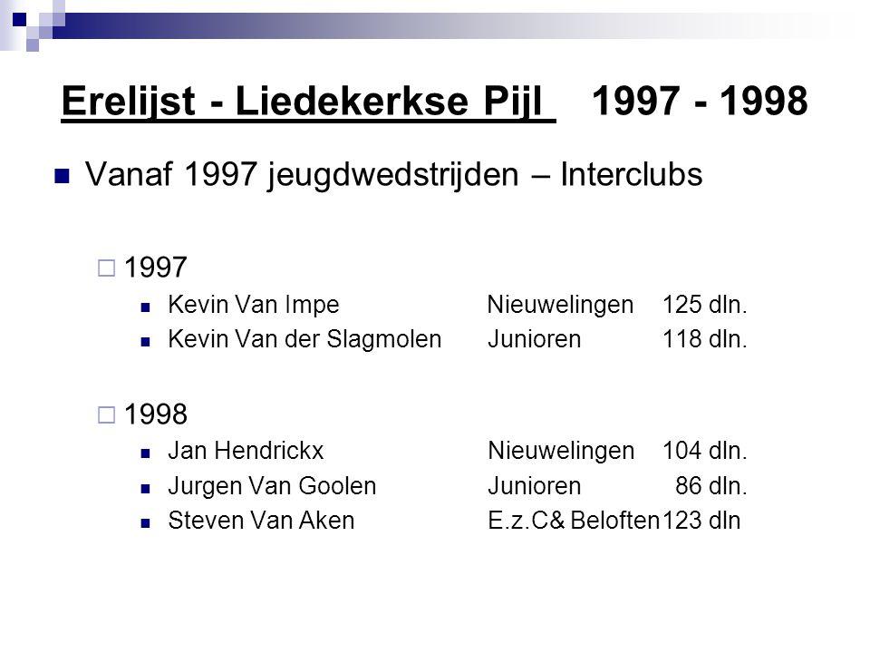 Erelijst - Liedekerkse Pijl 1997 - 1998