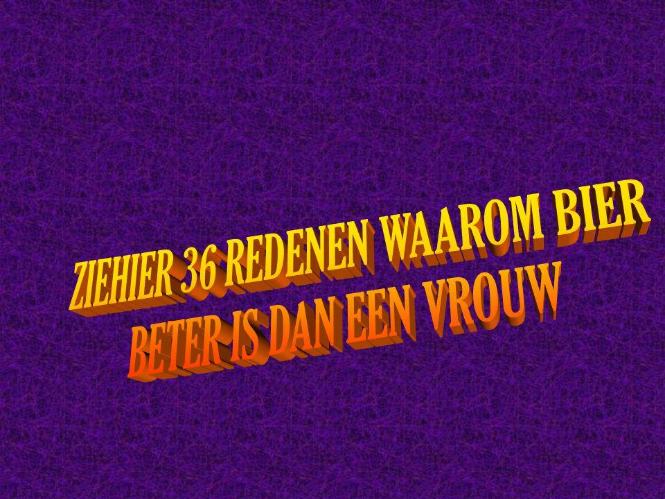 ZIEHIER 36 REDENEN WAAROM BIER