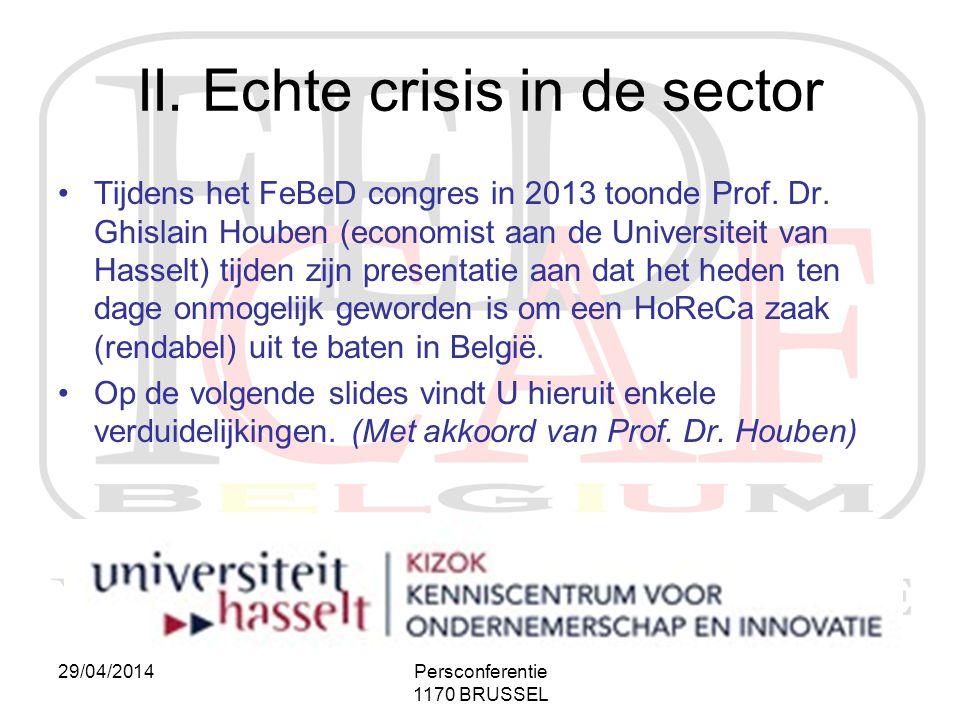 II. Echte crisis in de sector