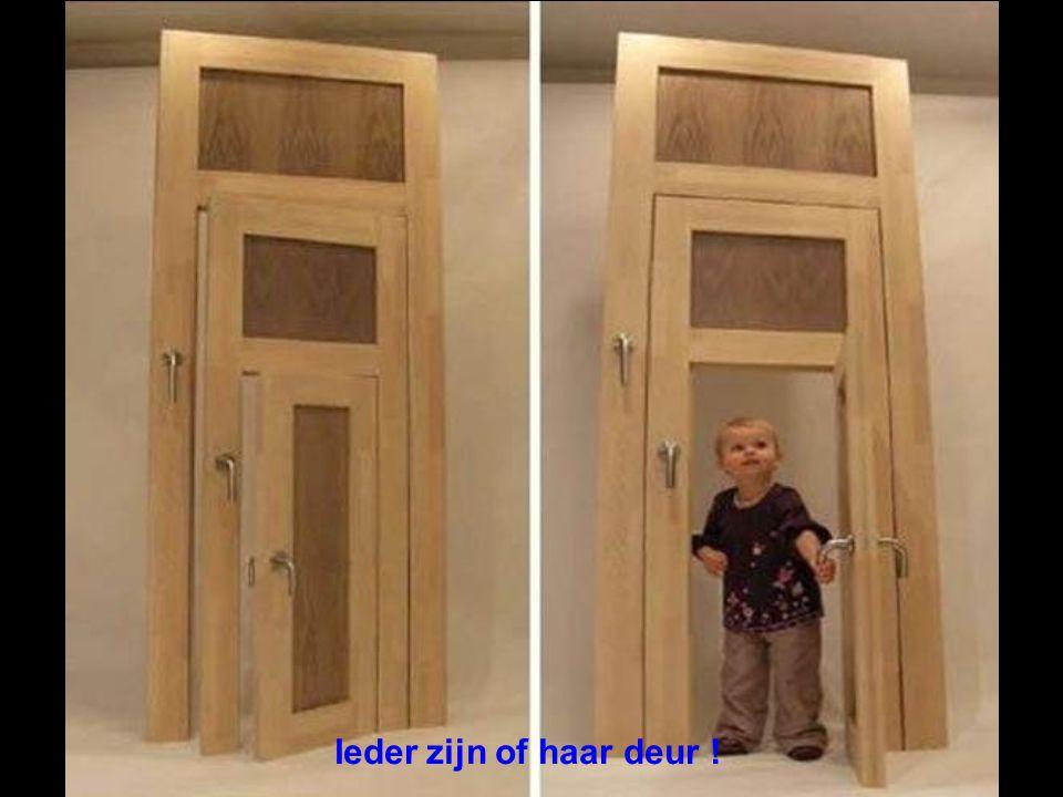 Ieder zijn of haar deur !