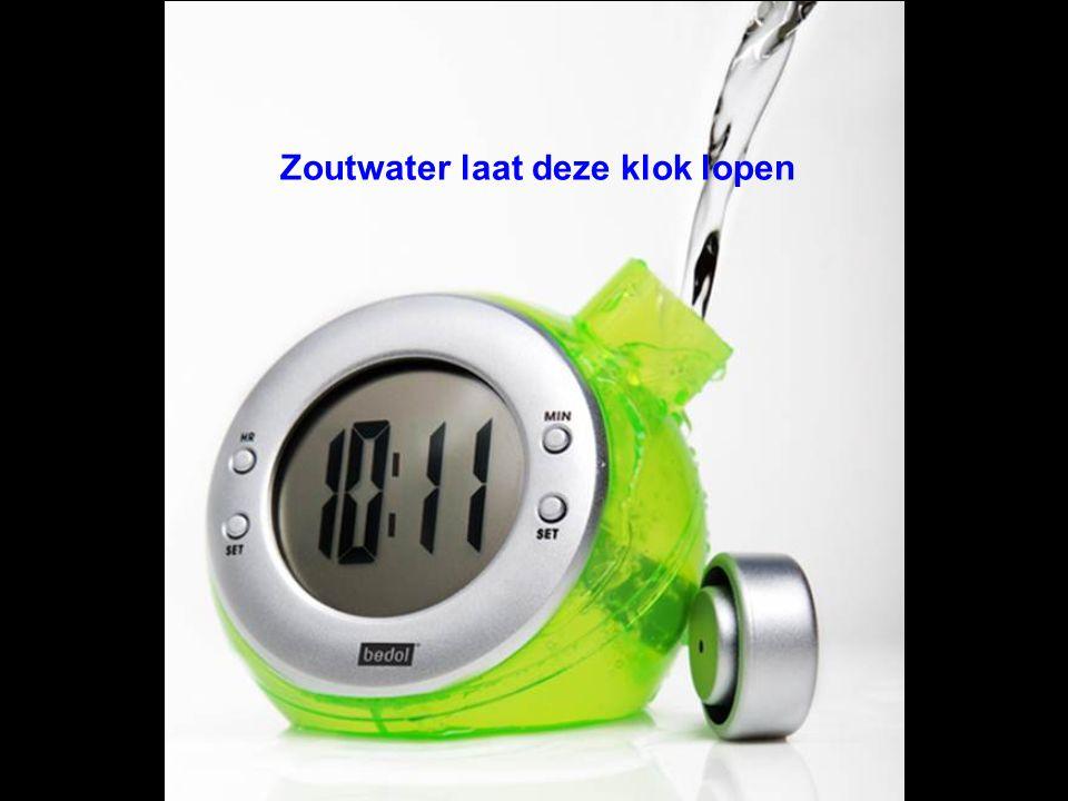 Zoutwater laat deze klok lopen