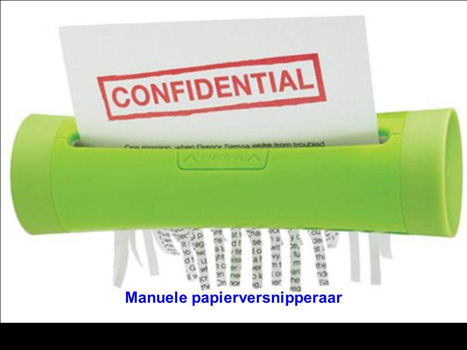 Manuele papierversnipperaar