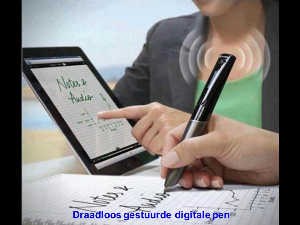 Draadloos gestuurde digitale pen