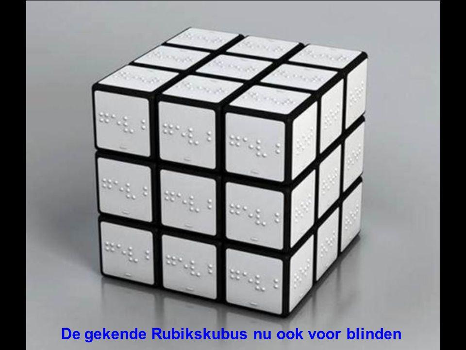 De gekende Rubikskubus nu ook voor blinden