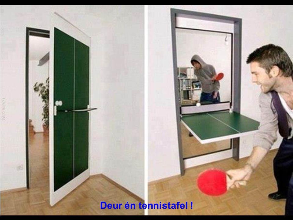 Deur én tennistafel !