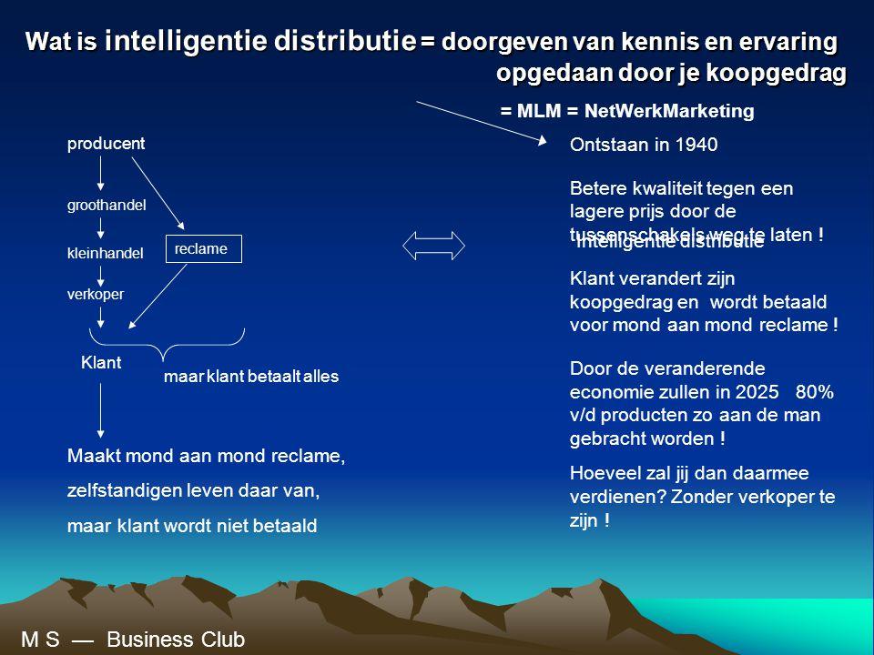 Wat is intelligentie distributie = doorgeven van kennis en ervaring