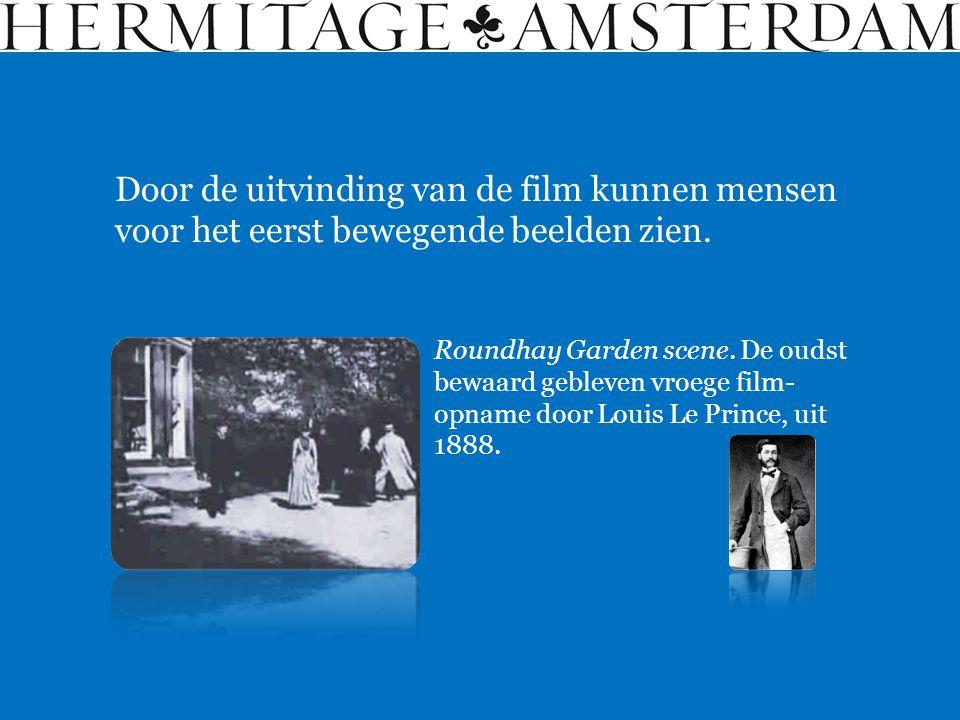 Door de uitvinding van de film kunnen mensen voor het eerst bewegende beelden zien.